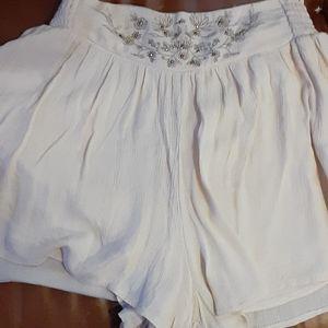 Khaki bohemian shorts